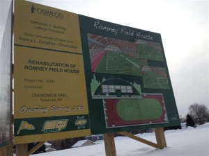 SUNY Oswego Field House Sign 1